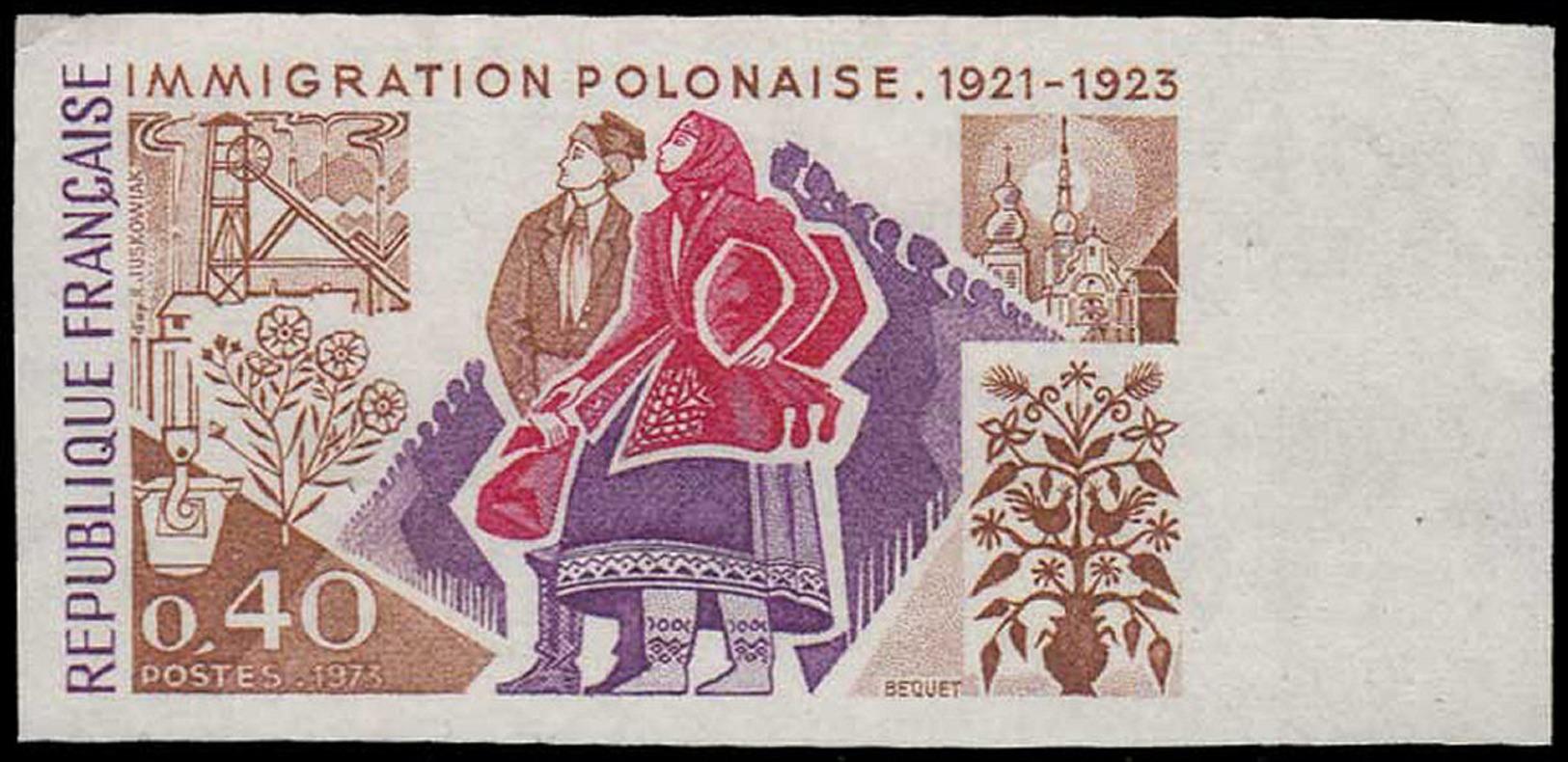 FRANCE Essais  1740 Essai En Polychrome: Immigration Polonaise - Proofs