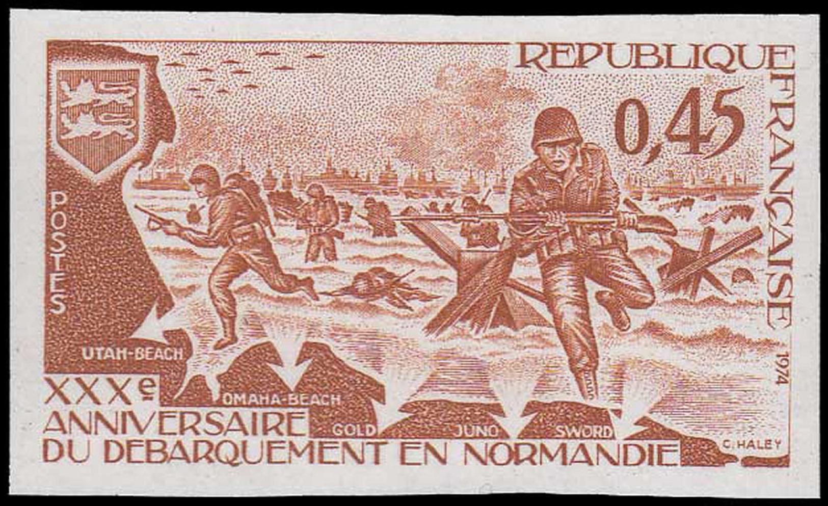 FRANCE Essais  1799 Essai En Brun: 30°an Du Débarquement En Normandie - Proofs