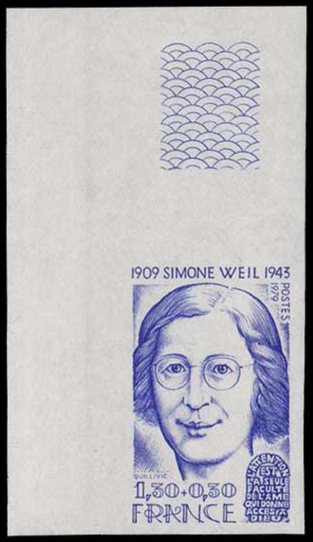 FRANCE Essais  2032 A, Essai En Bleu, Cdf: Simone Weil, Philosophe - Proofs