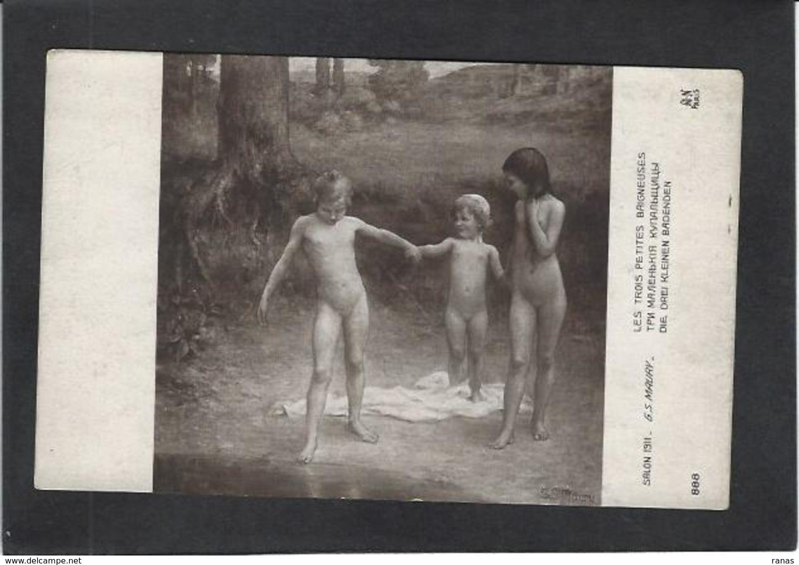 CPA Enfant Nu Nude  Maury Salon De Paris Non Circulé - Otros