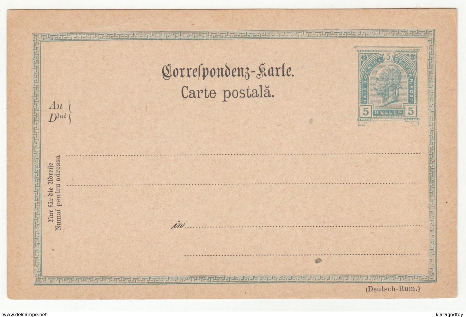 Austria - Romanian Postal Stationery Postal Card With Reply Unused B190220 - Interi Postali