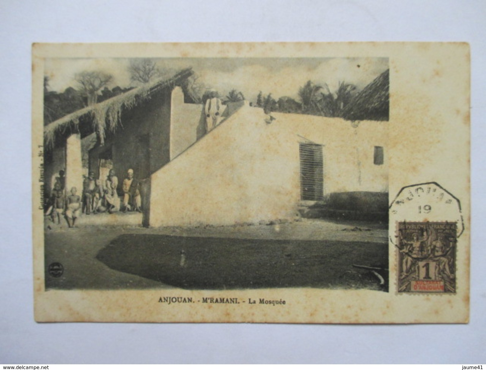 COMORES  -  ANJOUAN  -   M'RAMANI  -  LA MOSQUEE     ANIME    TTB - Comores