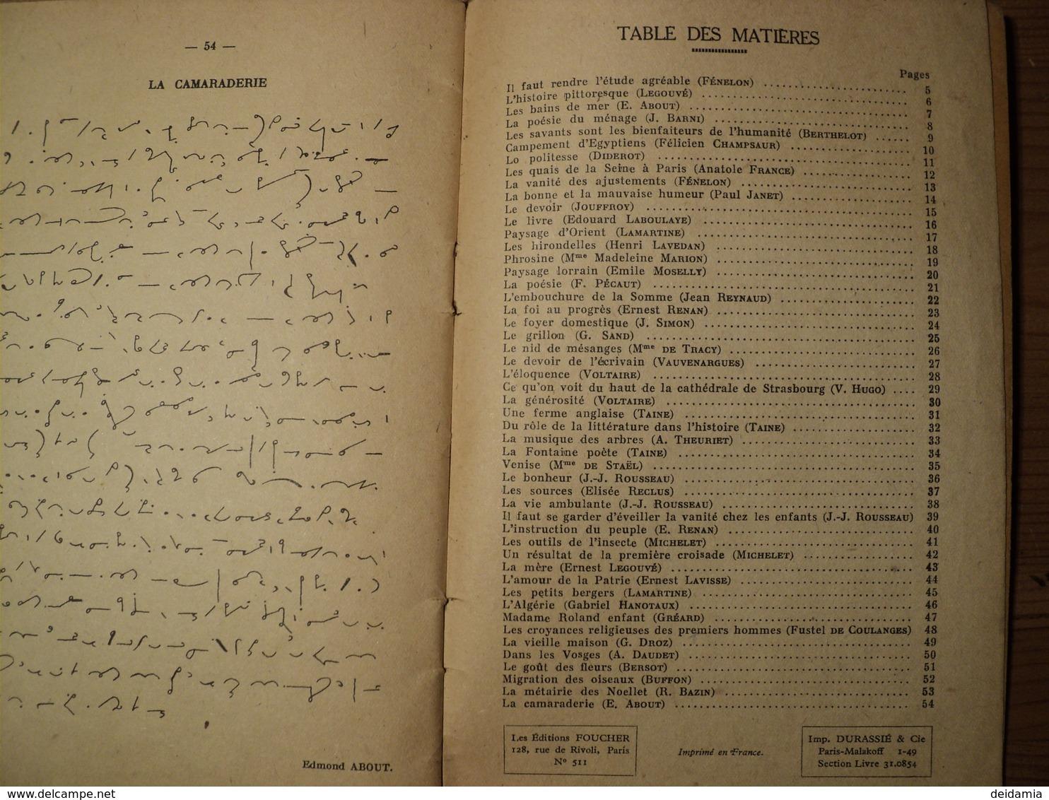 VIEUX LIVRET DE NOUVELLES LECTURES STENOGRAPHIQUES. 1949. LES LECTURES FOUCHER PAR JEAN BROUSSE. PREFACE DE ERNEST OLRI - Technical
