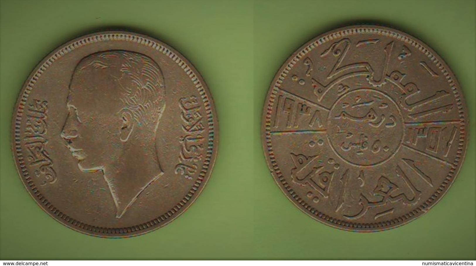 Iraq 50 Fils Re Ghazi I° 1938 - Iraq