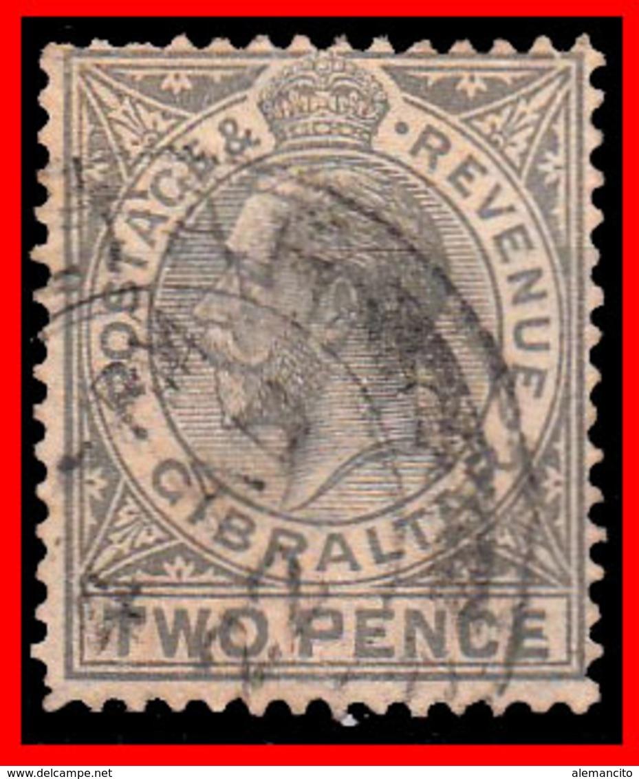 GIBRALTAR SELLO AÑO 1912 TWO PENCE  KING GEORGE V - Gibraltar