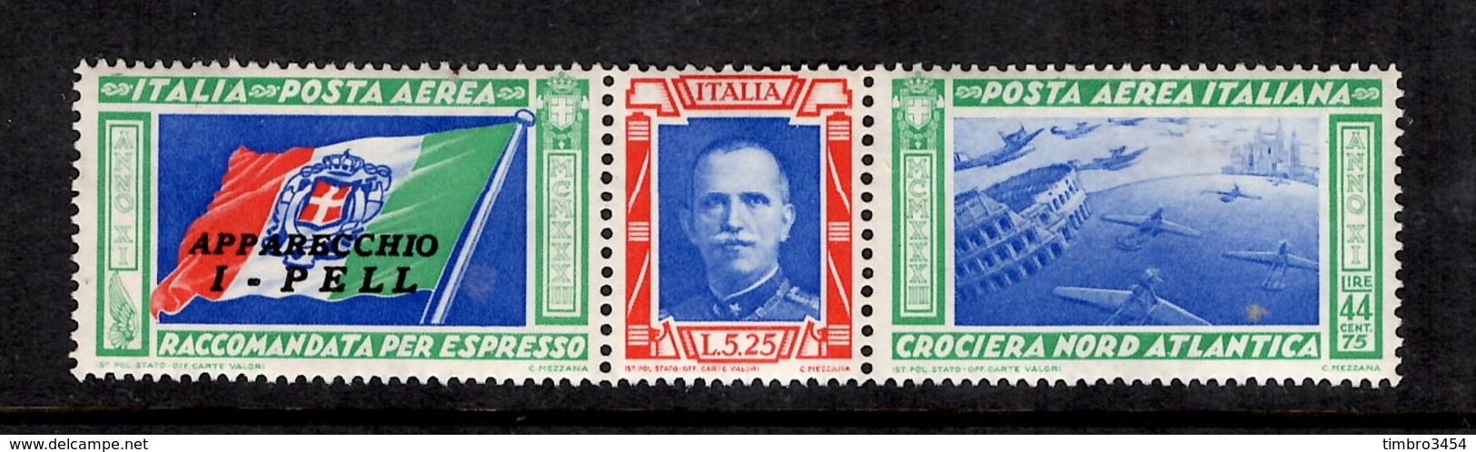 Italie Poste Aérienne YT N° 49 Neuf ** MNH. Gomme D'origine. TB. A Saisir! - 1900-44 Victor Emmanuel III