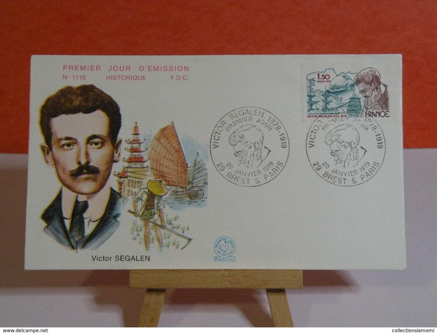 Victor Segalen - 29 Brest & Paris - 20.1.1979 FDC 1er Jour N°1110 - Coté 1,80€ - FDC