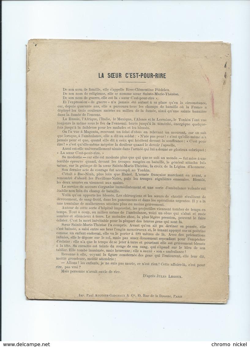 """1898 Les Femmes De France La Soeur """"C'est Pour Rire""""  Cahier Bien, Intérieur Passable 225 X 175 Mm 2 Scans - Protège-cahiers"""