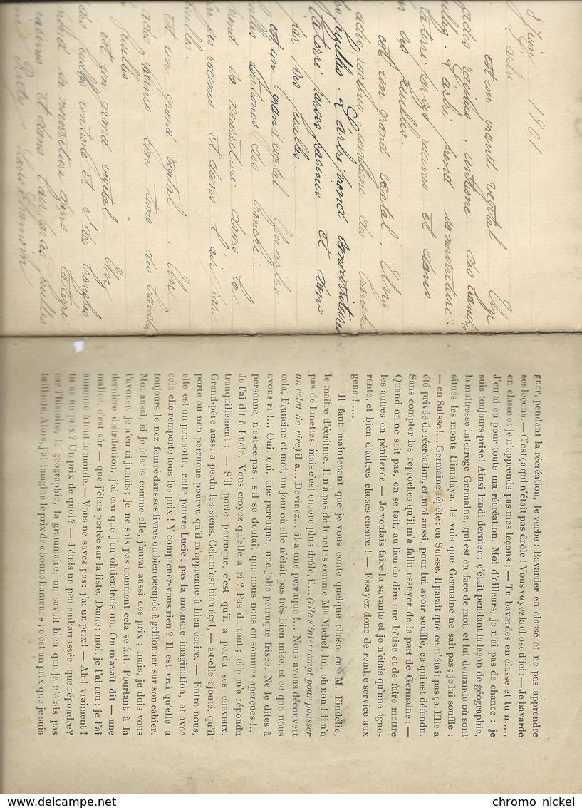 1901 Comédies Saynettes Moulin à Paroles Cahier Bien Complet Couverture Protège-cahier 225 X 175 Mm 5 Scans - Protège-cahiers