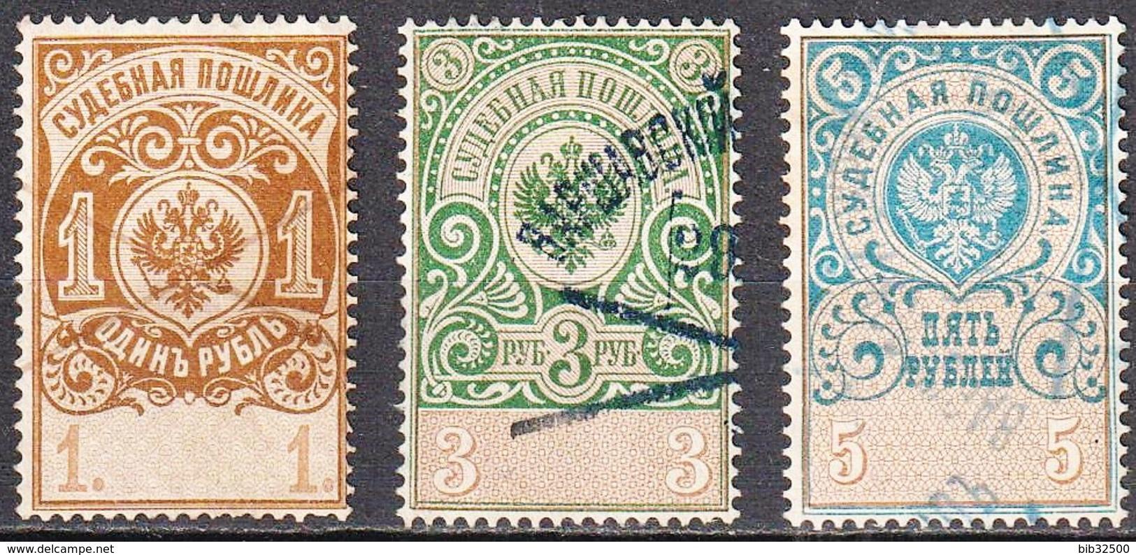 1891-:- Russie Judiciaire - N° 9 - 10- 11 - Oblitérés - 1857-1916 Empire