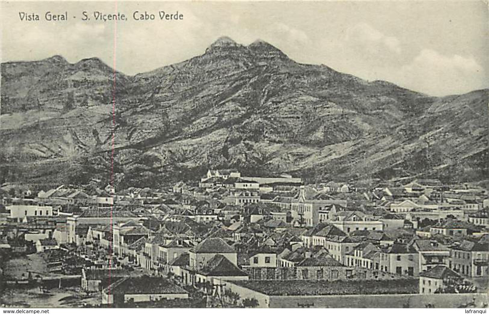 Pays Div- Ref R99- Vista Geral - S Vicente - Cabo Verde - Cap Vert  - Carte Bon Etat - - Cap Vert