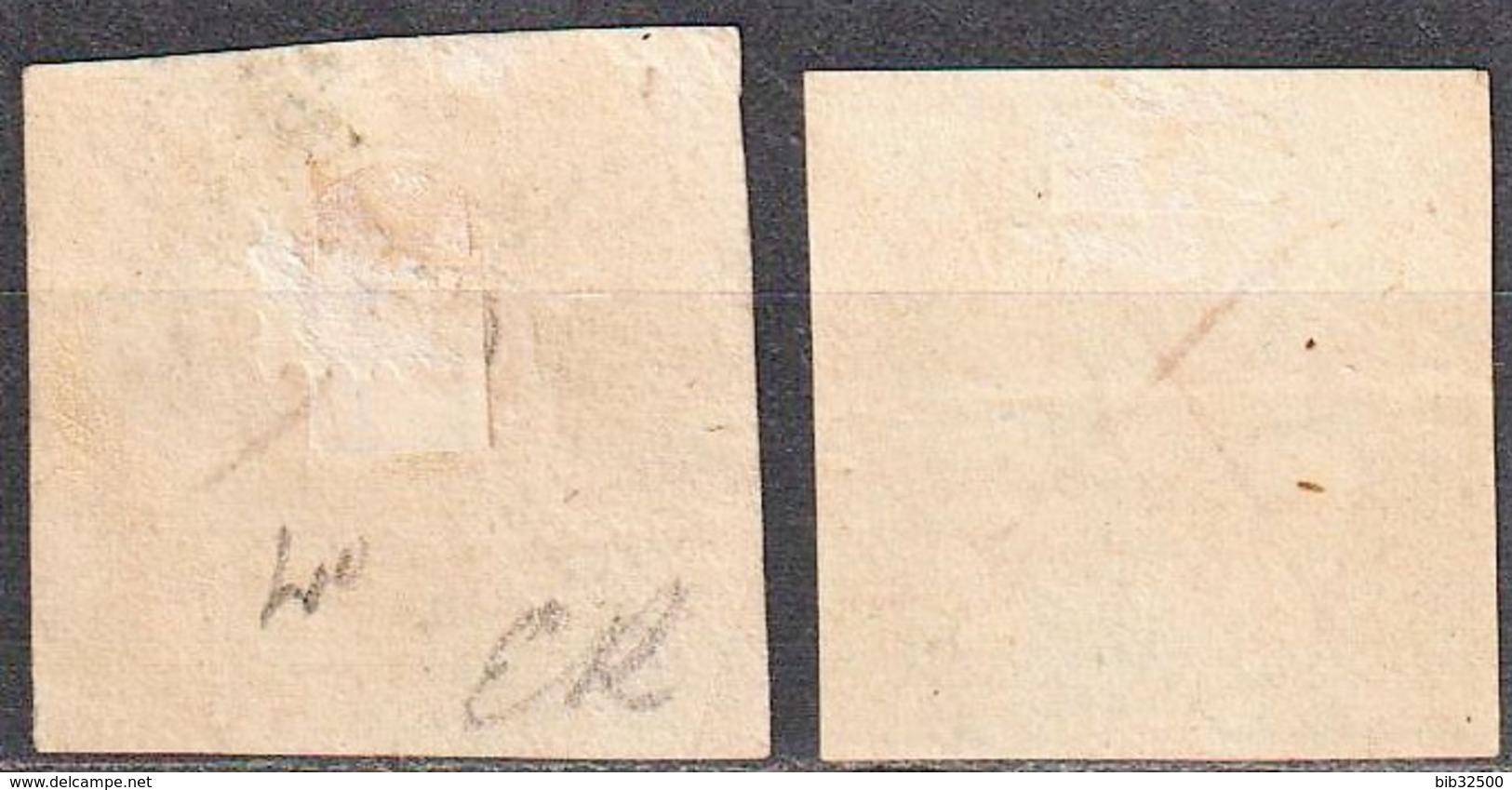 1861 -:- Moscow Police  - N° 2 Et 3 - Oblitérés à La Plume - - 1857-1916 Impero