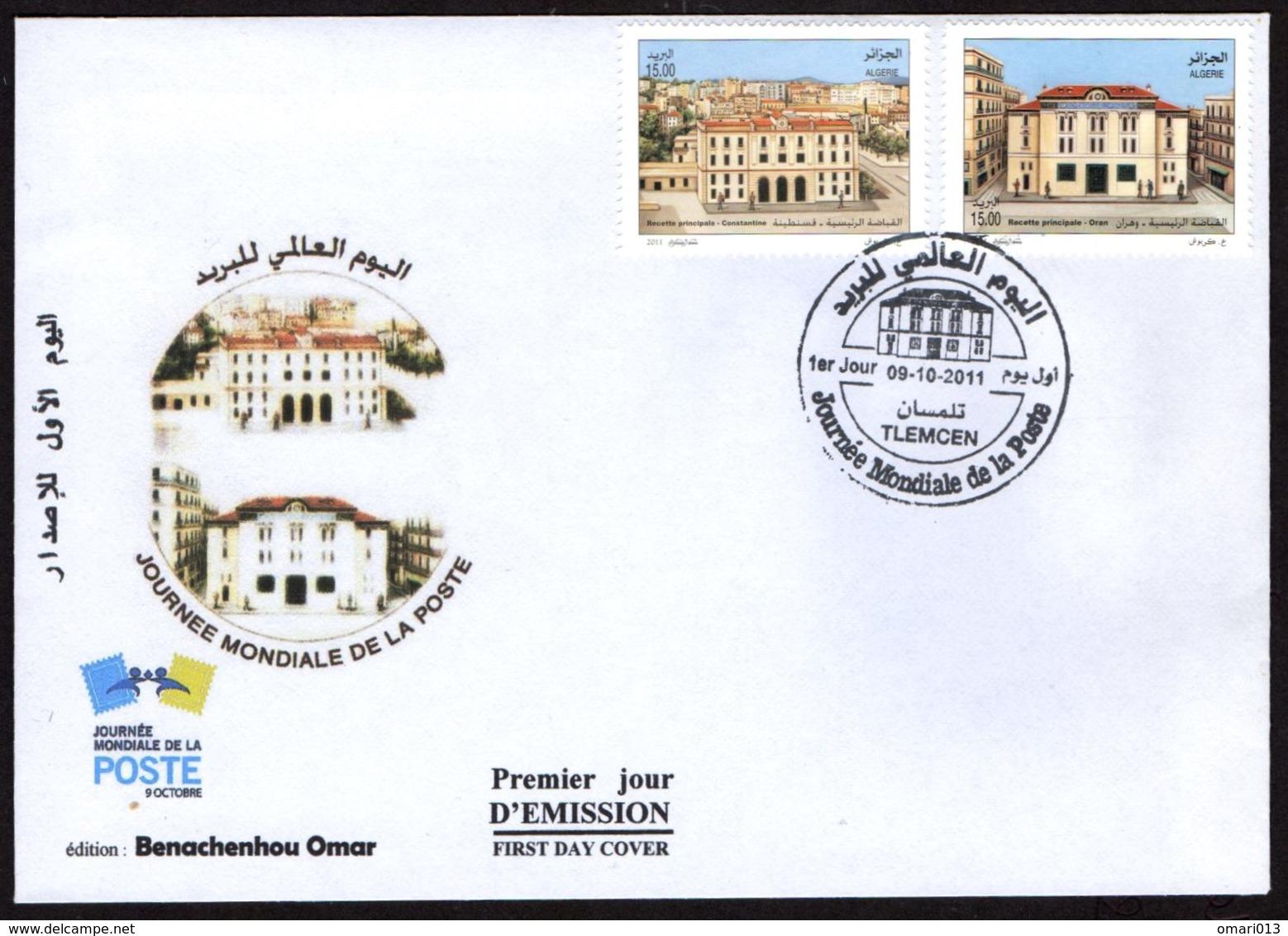 Algérie.2011.FDC Personnelle.Journée Mondiale De La Poste - Algérie (1962-...)