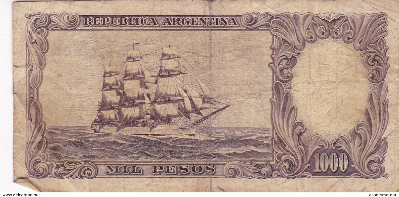 AÑO 1969-MIL PESOS EL BANCO CENTRAL DE LA REPUBLICA ARGENTINA. BILLETE BANKNOTE - BLEUP - Argentine