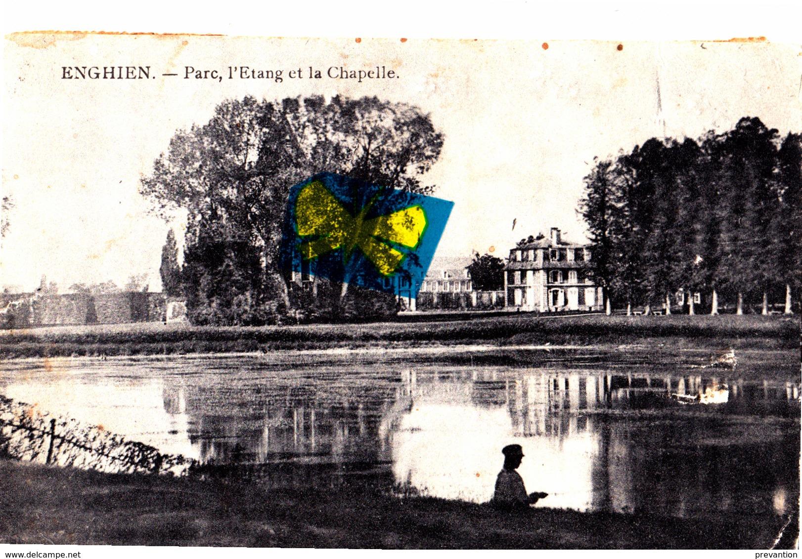 ENGHIEN - Parc, L'Etang Et La Chapelle - Enghien - Edingen
