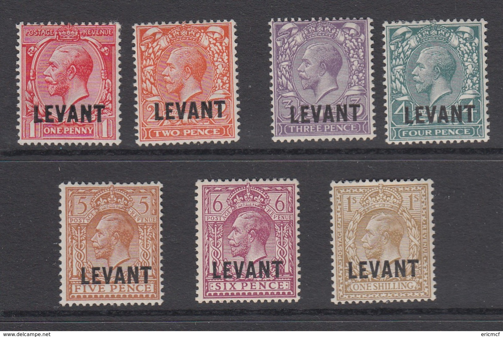 British Levant 1921 To 1/- MLH(*) - British Levant