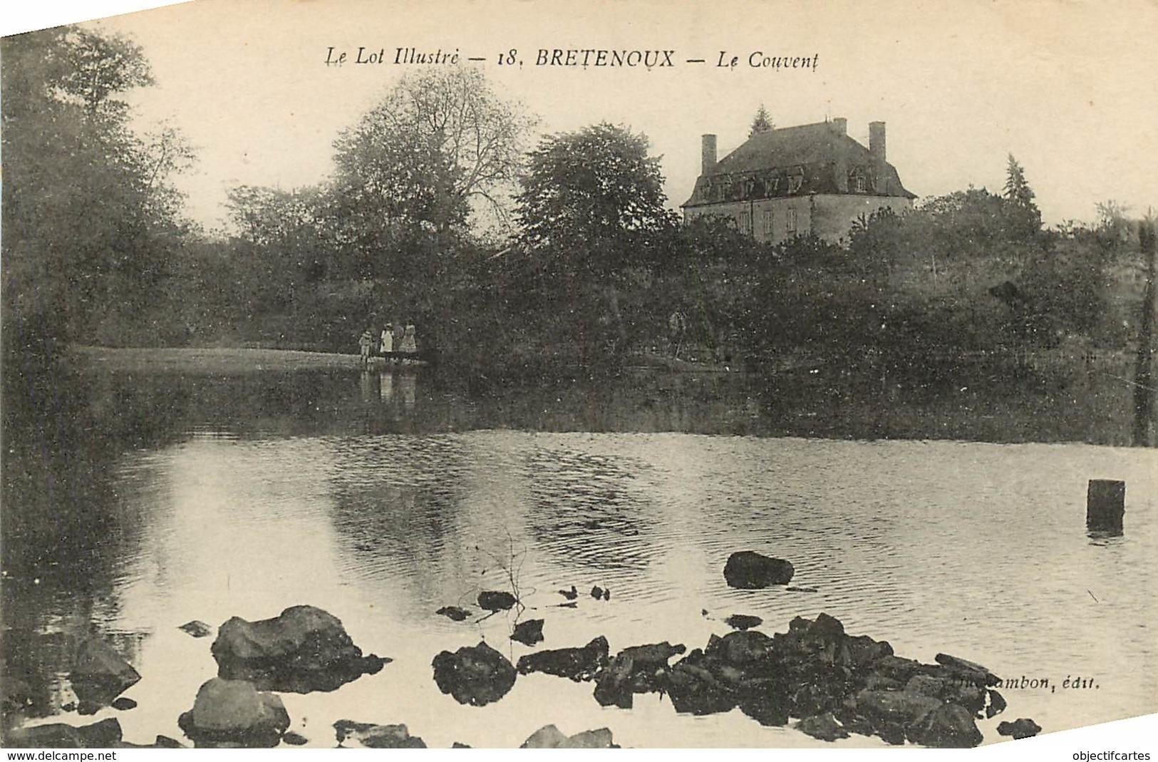 LOT BRETENOUX LE COUVENT (scan Recto-verso) KEVREN0486 - Bretenoux