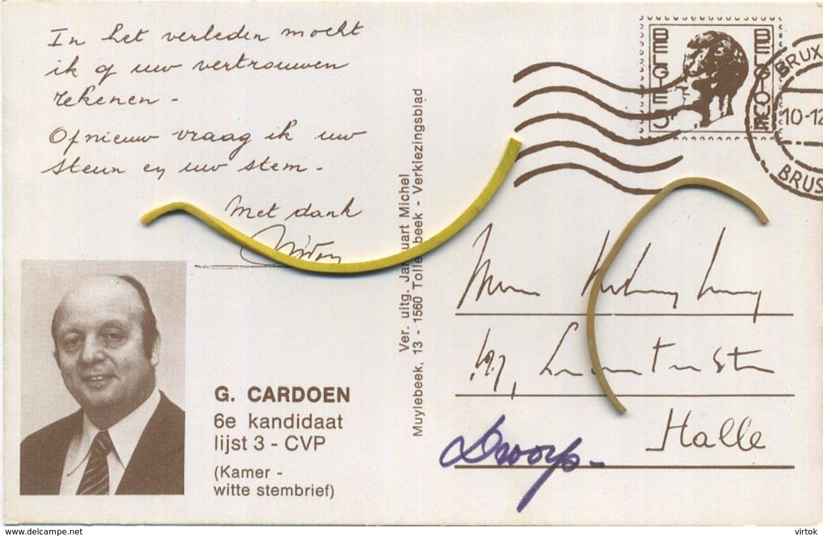Galmaarden  :  REPRO - Gemeenteplaats (  Verkiezingskaart  G. Cardoen )     See Scans - Galmaarden