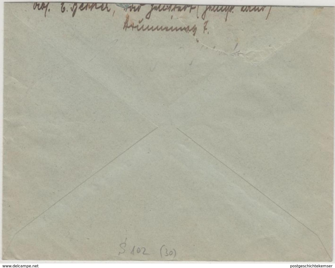 DR - 12 Pfg. Friedrich D. Große Zusammendruck  Brief Helmstedt - Vienenburg 1933 - Zusammendrucke