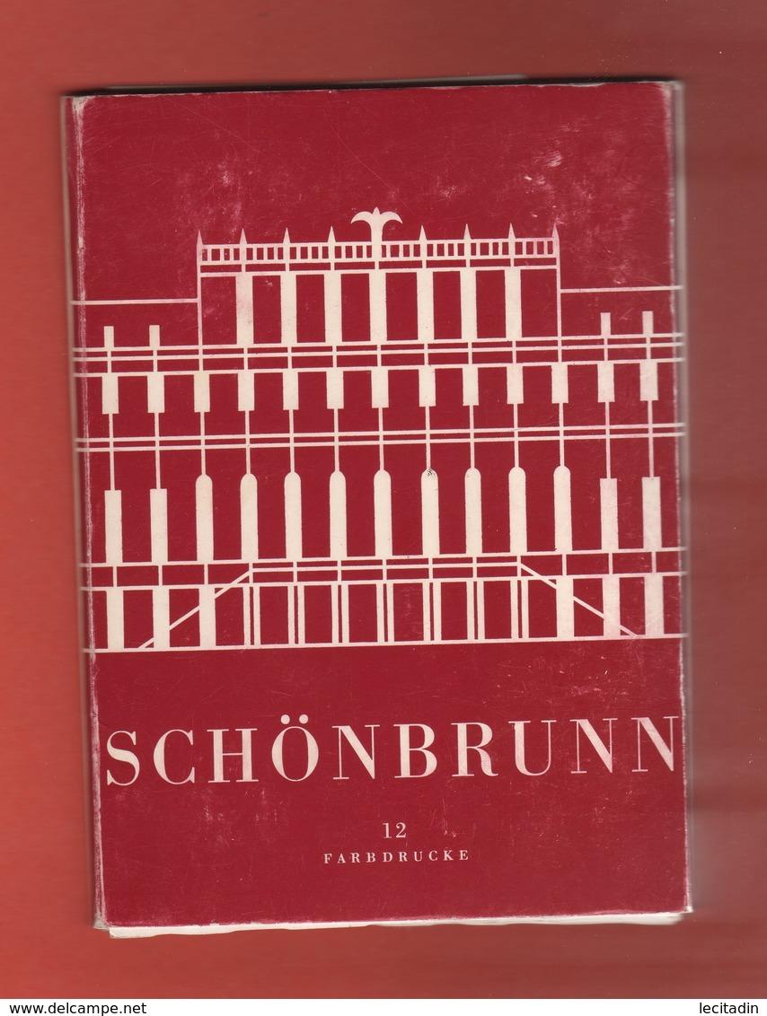CP50 EUROPE AUTRICHE VIENNE Chateau De Schonbrunn Pochette Complète De 12 Cartes Postales - Château De Schönbrunn