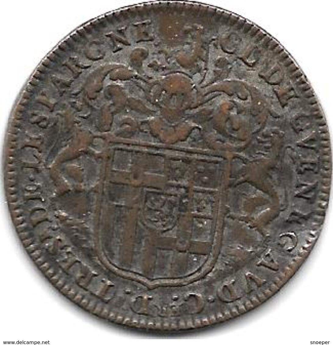 *   RARE Jeton Sous Louis XIV Noblesse Claude De Guenegaud Martel - Andere