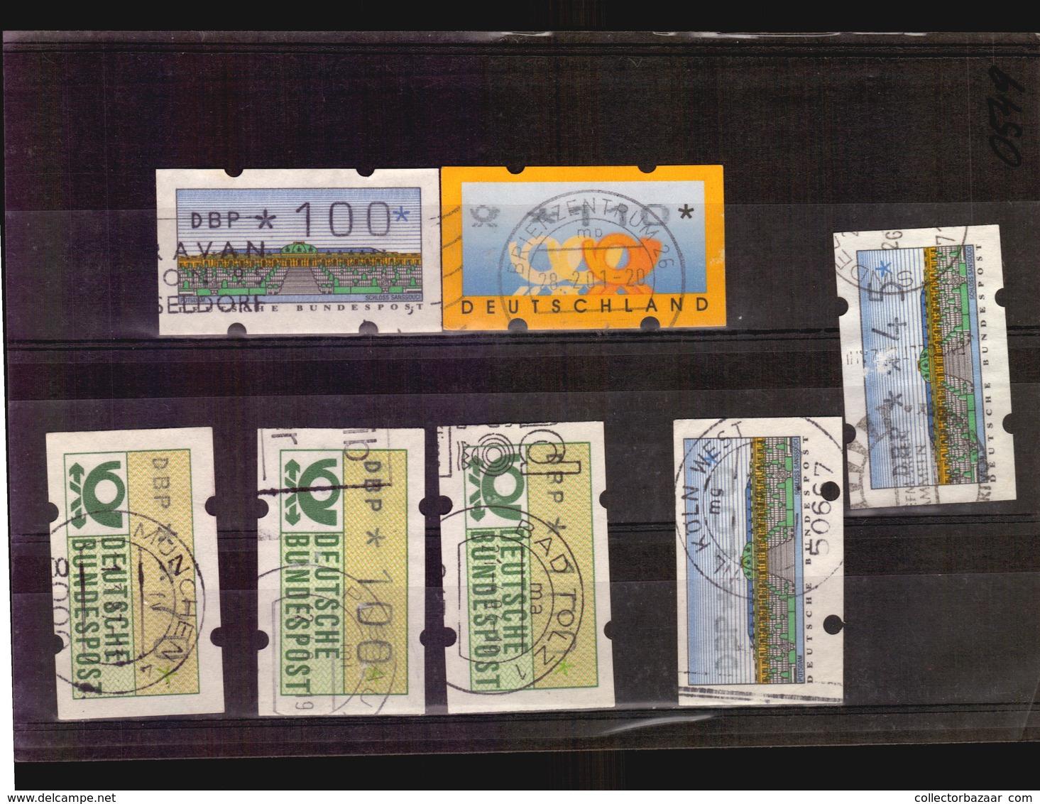 Bundesrepublik Deutschland Automatenmarken Used Stamps (A_4268) Germany - [7] République Fédérale