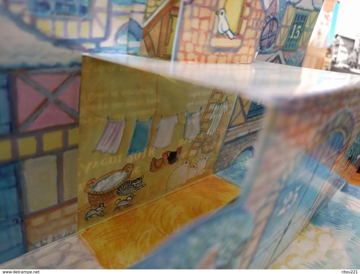 Grand Calendrier De L'Avent D'APPRENTIS D'AUTEUIL 2018 - Noel Illustration MAITE ROCHE Ours Peluche Chèvre CHAT SOURIS - Calendriers