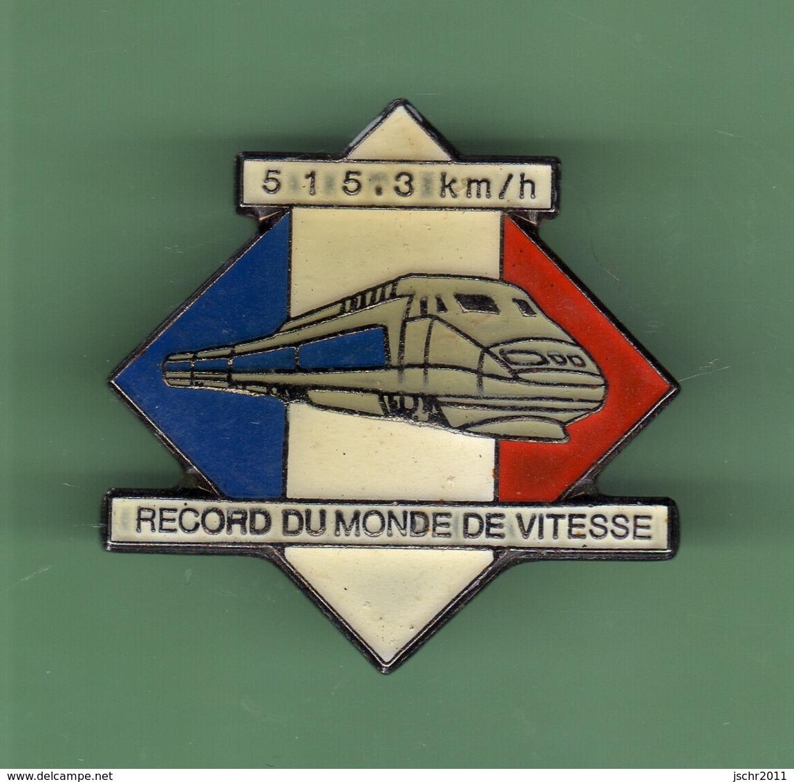 TGV *** RECORD DU MONDE DE VITESSE *** 515,3 Km/h *** TRAINS-02 - TGV