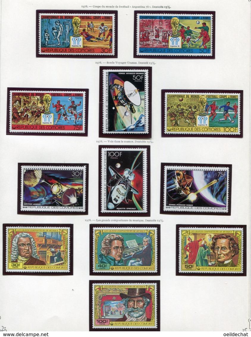 11410  COMORES  Collection Vendue Par Page   N° 200/3 + 204/7 + 212/5  **  1978   TB/TTB - Comores (1975-...)
