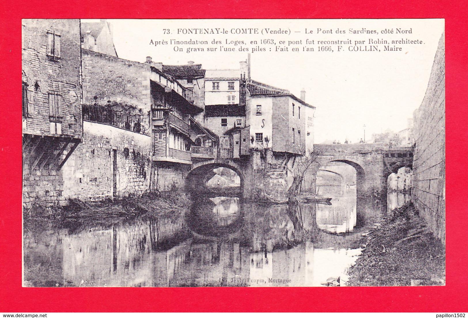 F-85-Fontenay Le Comte-142A56   Le Pont Des Sardines, Côté Nord, Cpa BE - Fontenay Le Comte