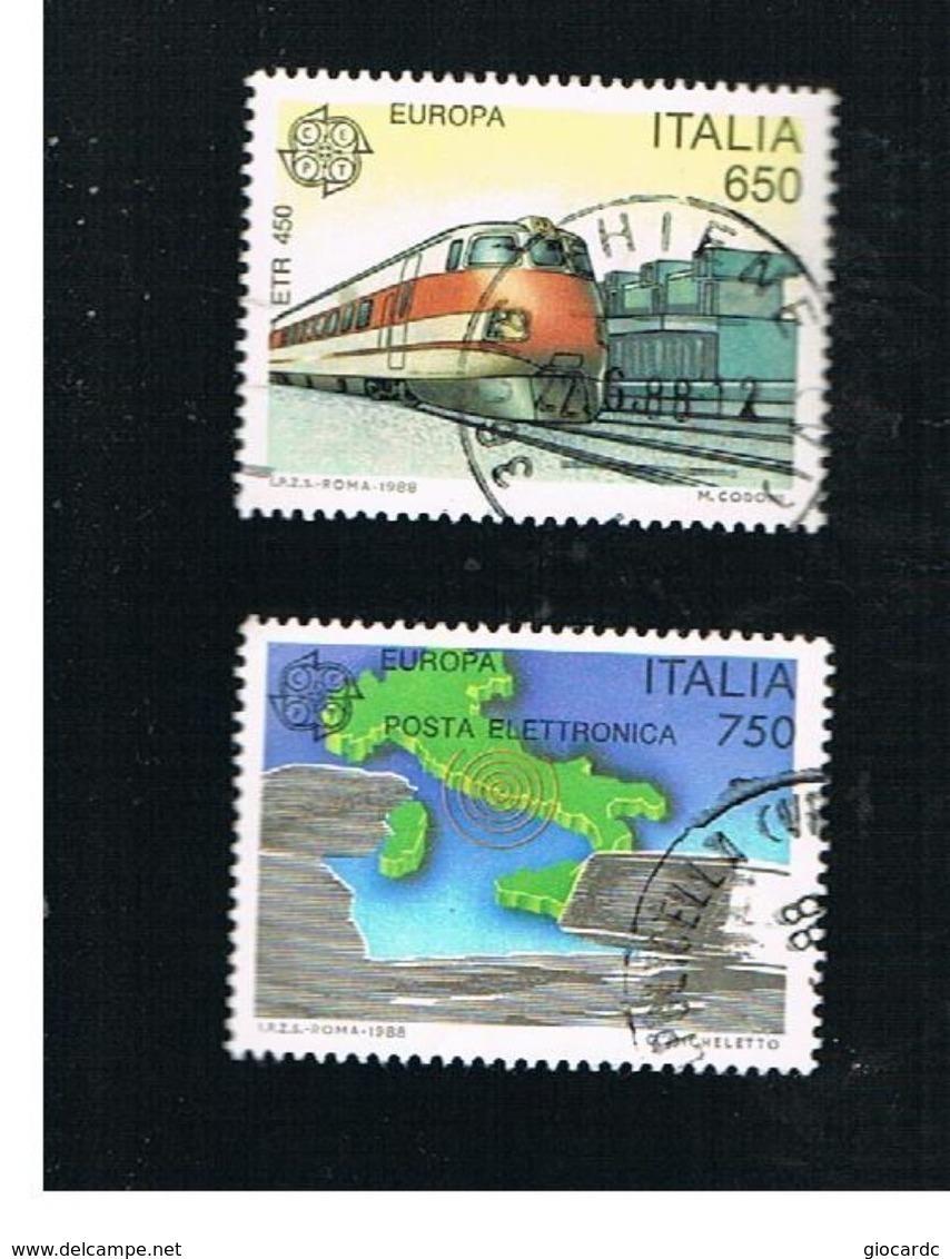 ITALIA REPUBBLICA  - SASS. 1828.1829   -      1988     EUROPA       -      USATO - 6. 1946-.. República