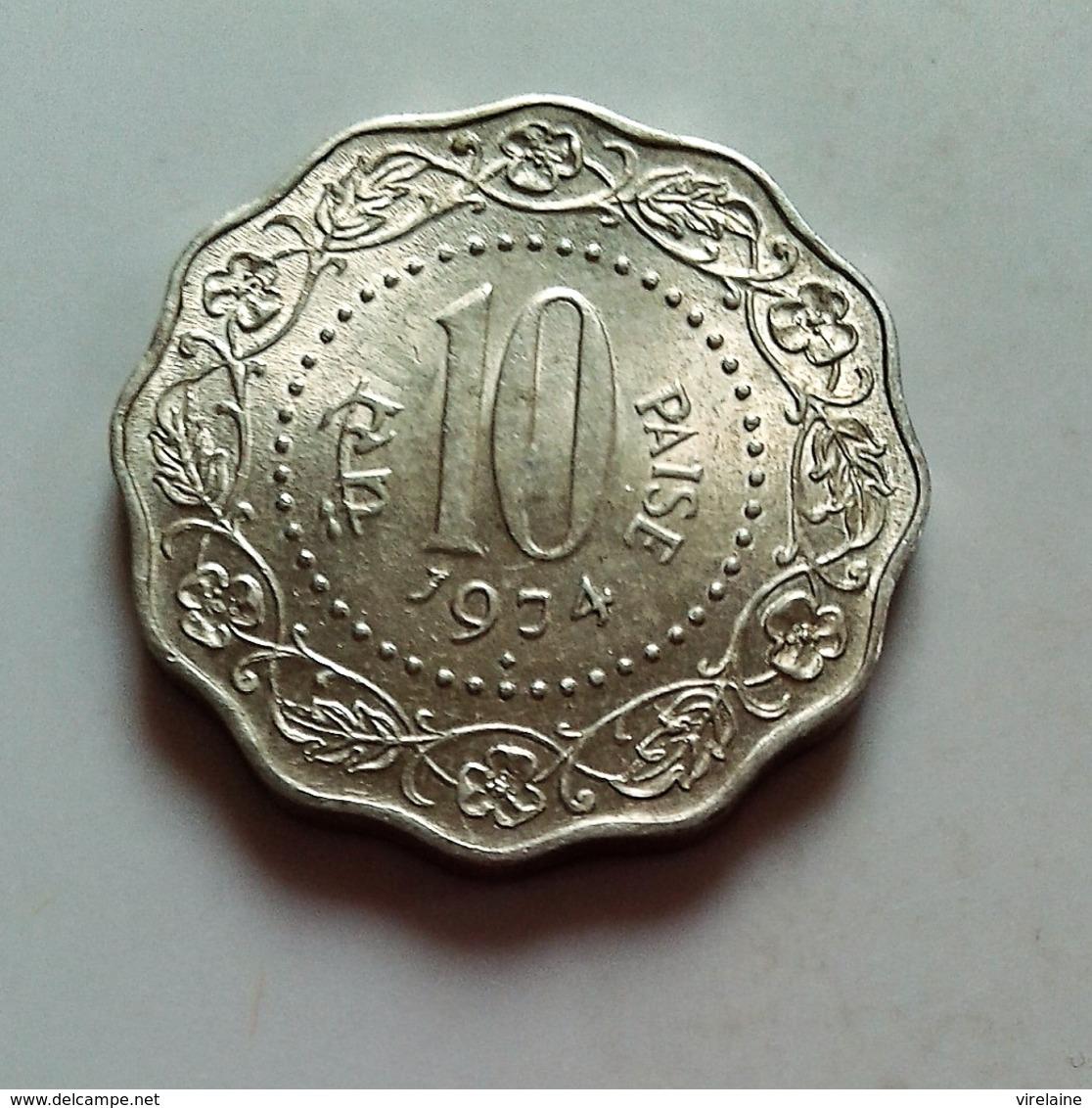 INDE - INDIA 10 Paise 1974 --SpL  (B908) - Inde