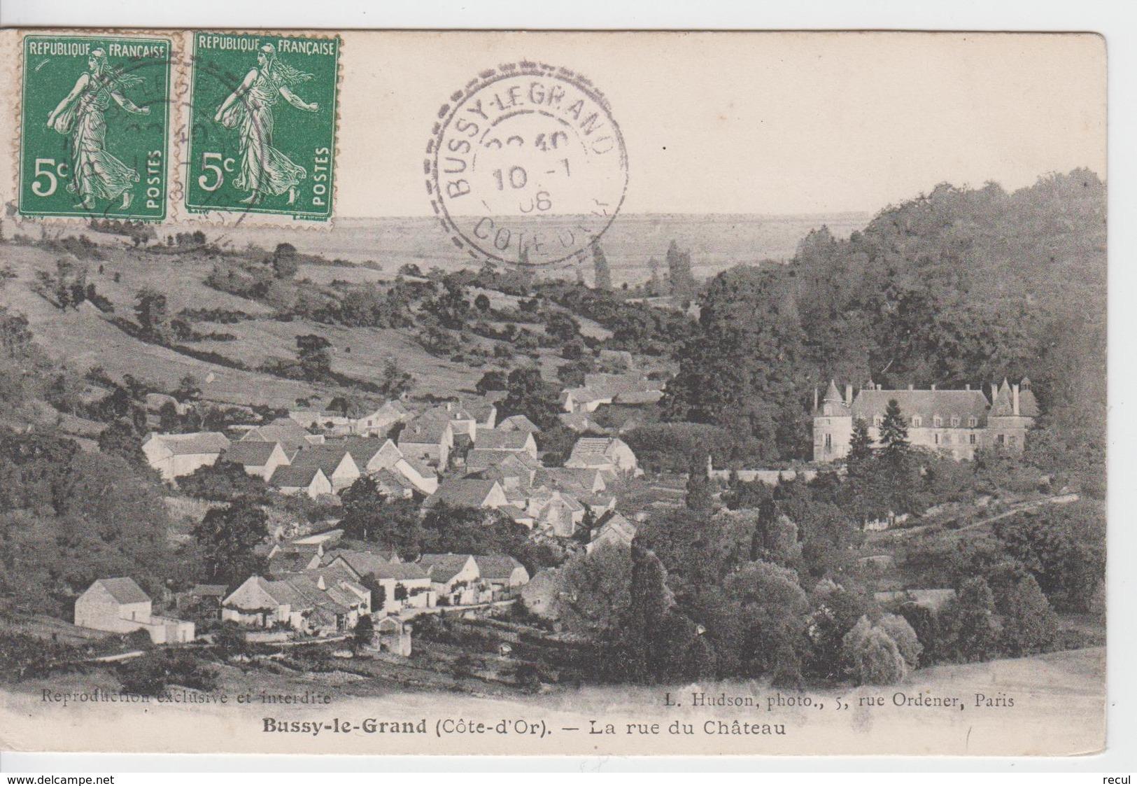 CÔTE D'OR - BUSSY Le GRAND - La Rue Du Châteaux - France