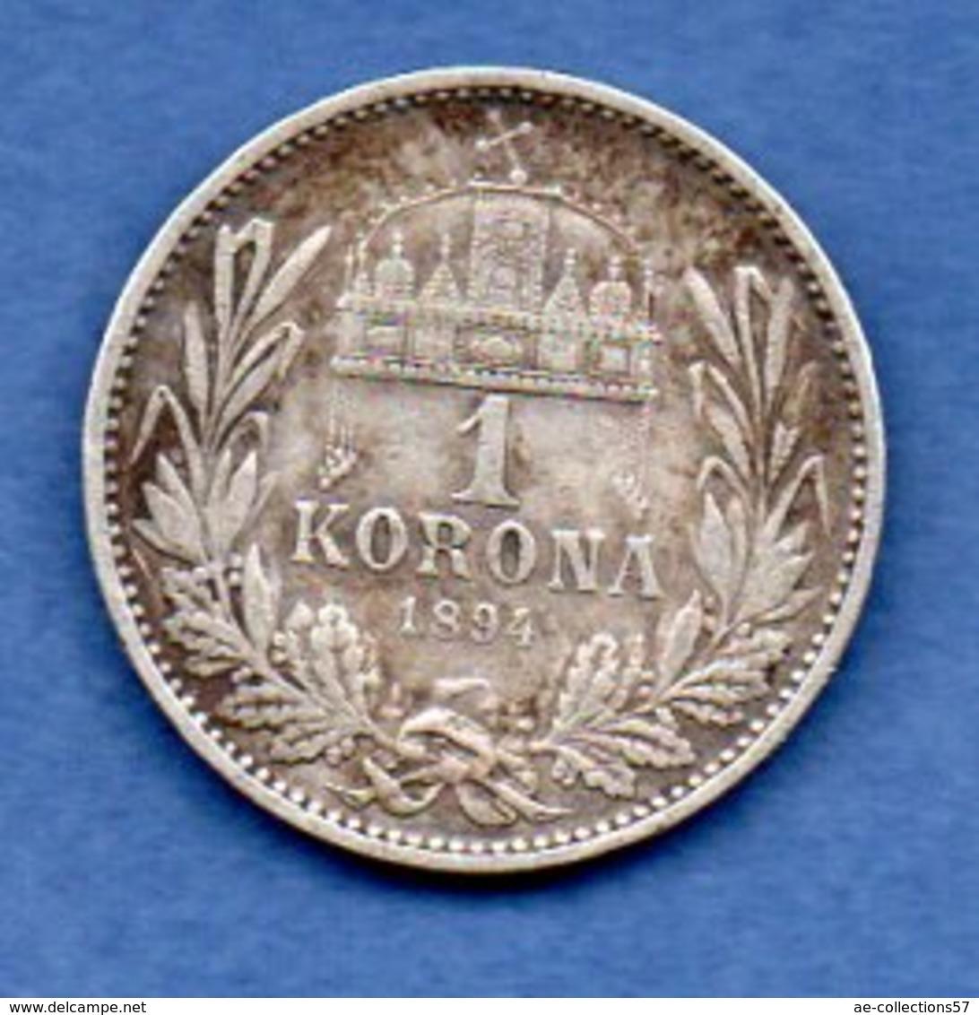 Hongrie -  1 Korona 1894 -- Km  # 484  -  état  TB+ - Hongrie