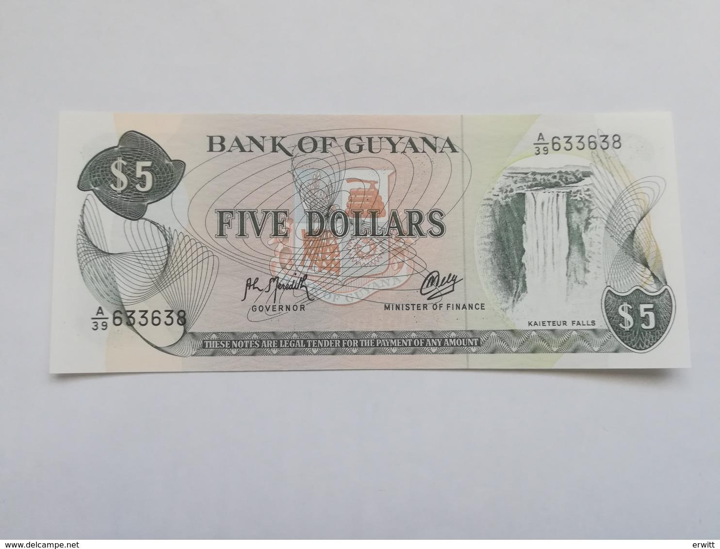 GUYANA 5 DOLLARS 1992 - Guyana