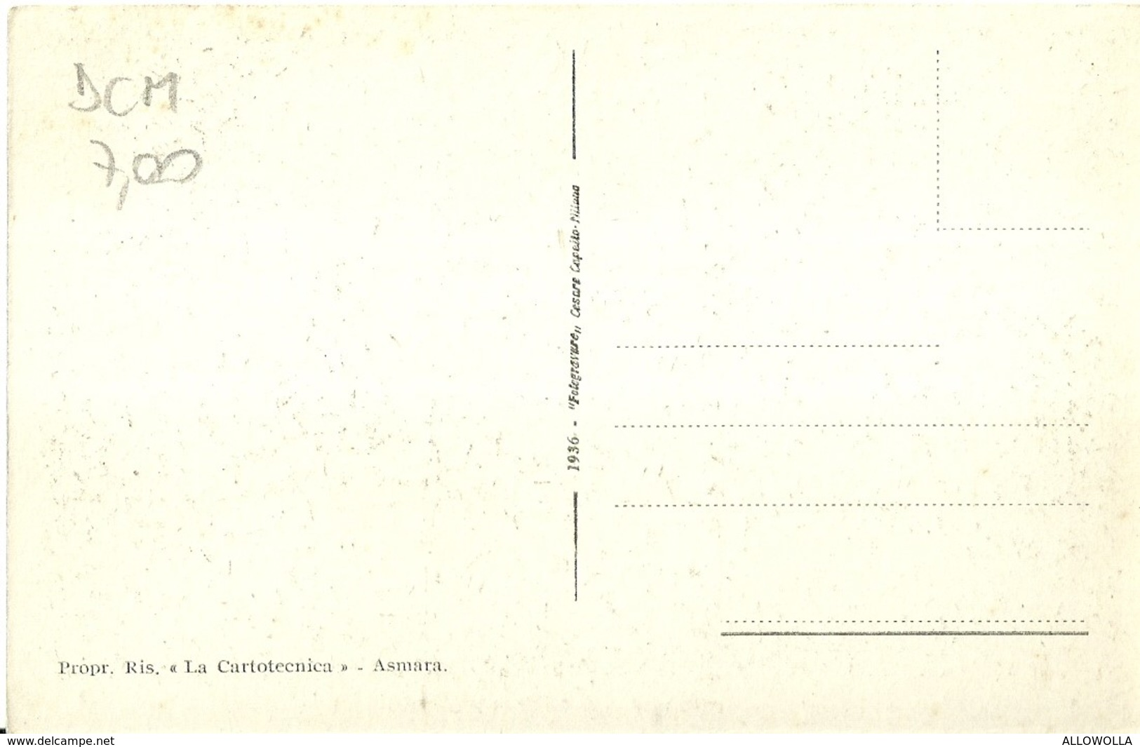 """2779 """" ASMARA - STAZIONE FERROVIARIA - CARRI MERCI """" CART.POST. ORIG ANIMATA NON SPED. - Eritrea"""