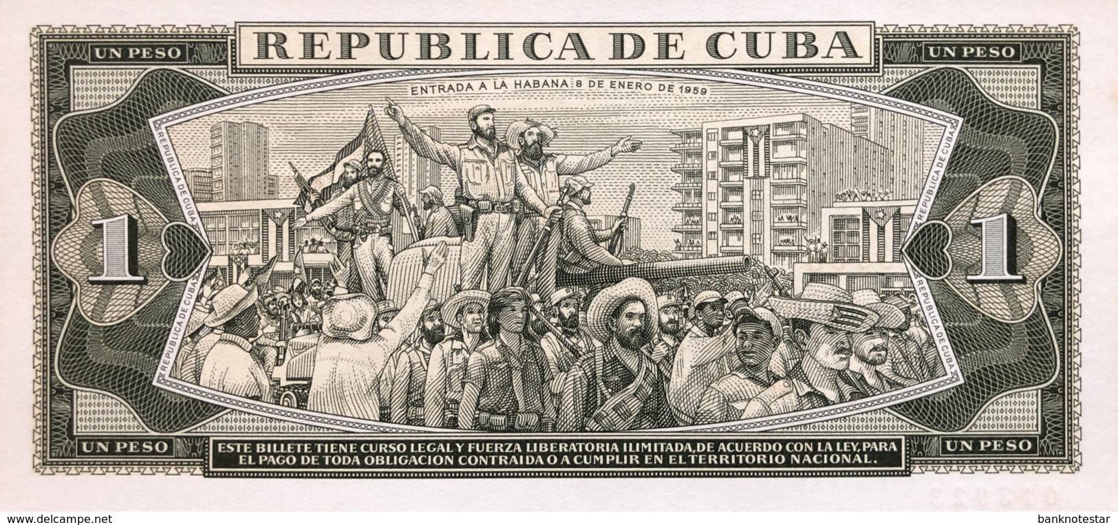 Cuba 1 Peso, P-102s1 (1967) - UNC - SPECIMEN - Cuba
