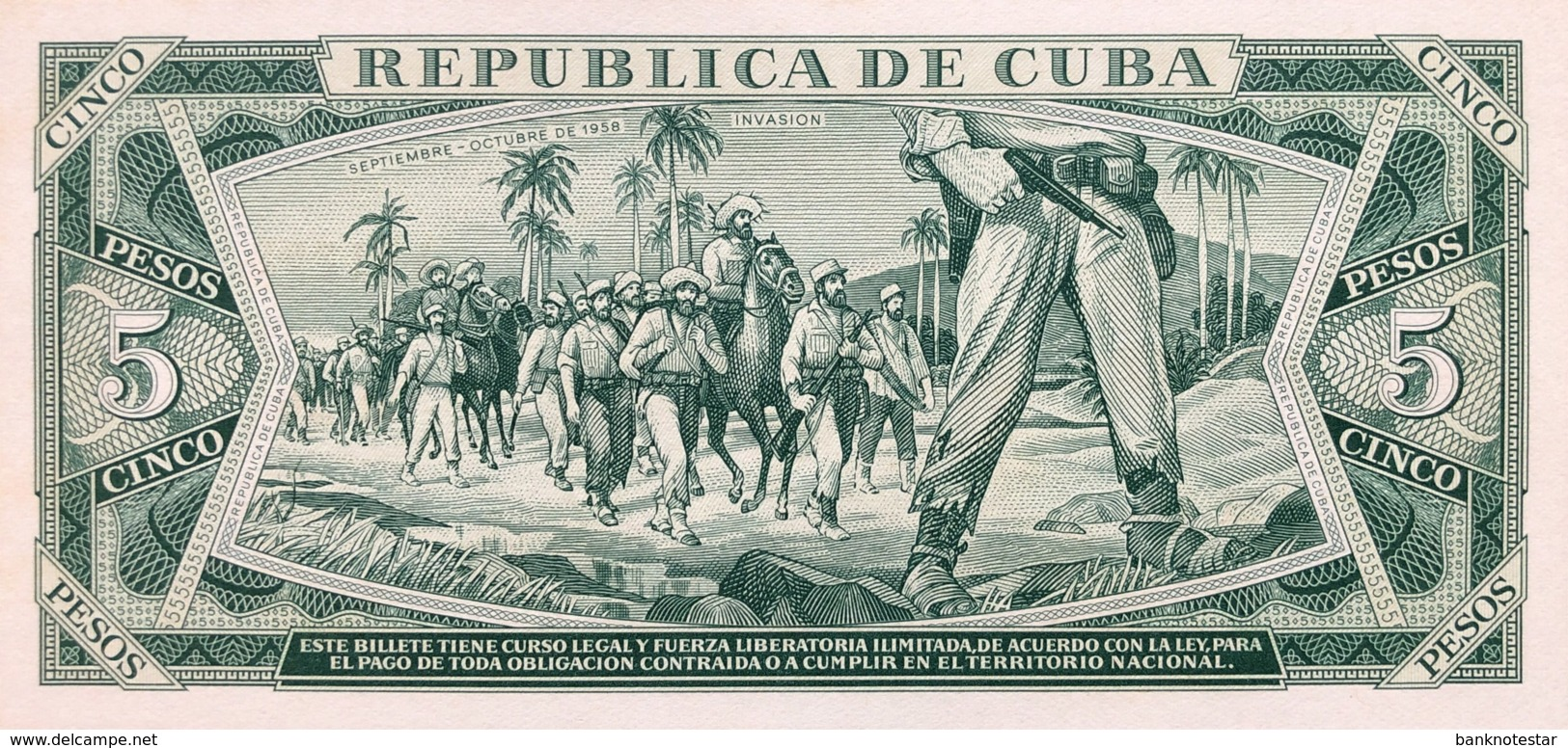 Cuba 5 Pesos, P-103a (1967) - UNC - Cuba