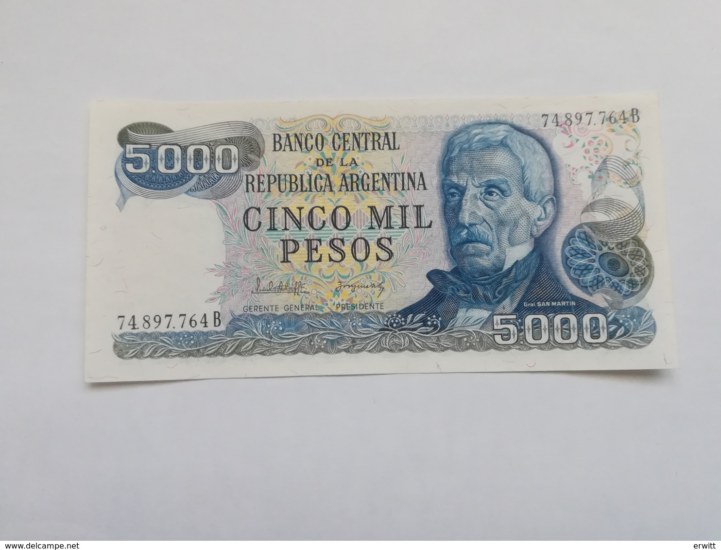 ARGENTINA 5000 PESOS 1983 - Argentine