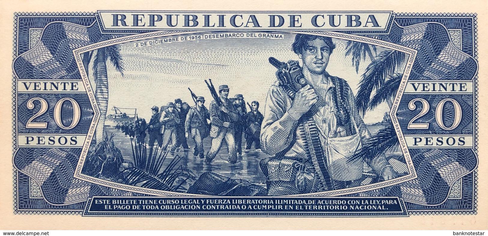 Cuba 20 Pesos, P-105aS (1971) - UNC - SPECIMEN - Cuba