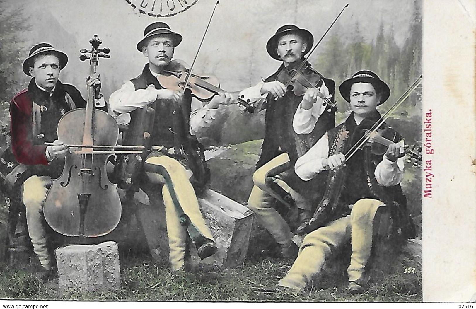 POLOGNE-  1906 -   MUZIKA GORALSKA -  CARTE COLORISEE - Polen