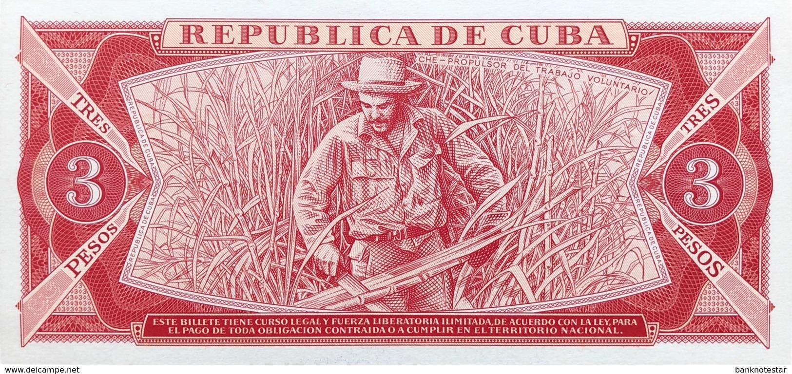 Cuba 3 Pesos, P-107a (1983) - UNC - Che Banknote - Cuba