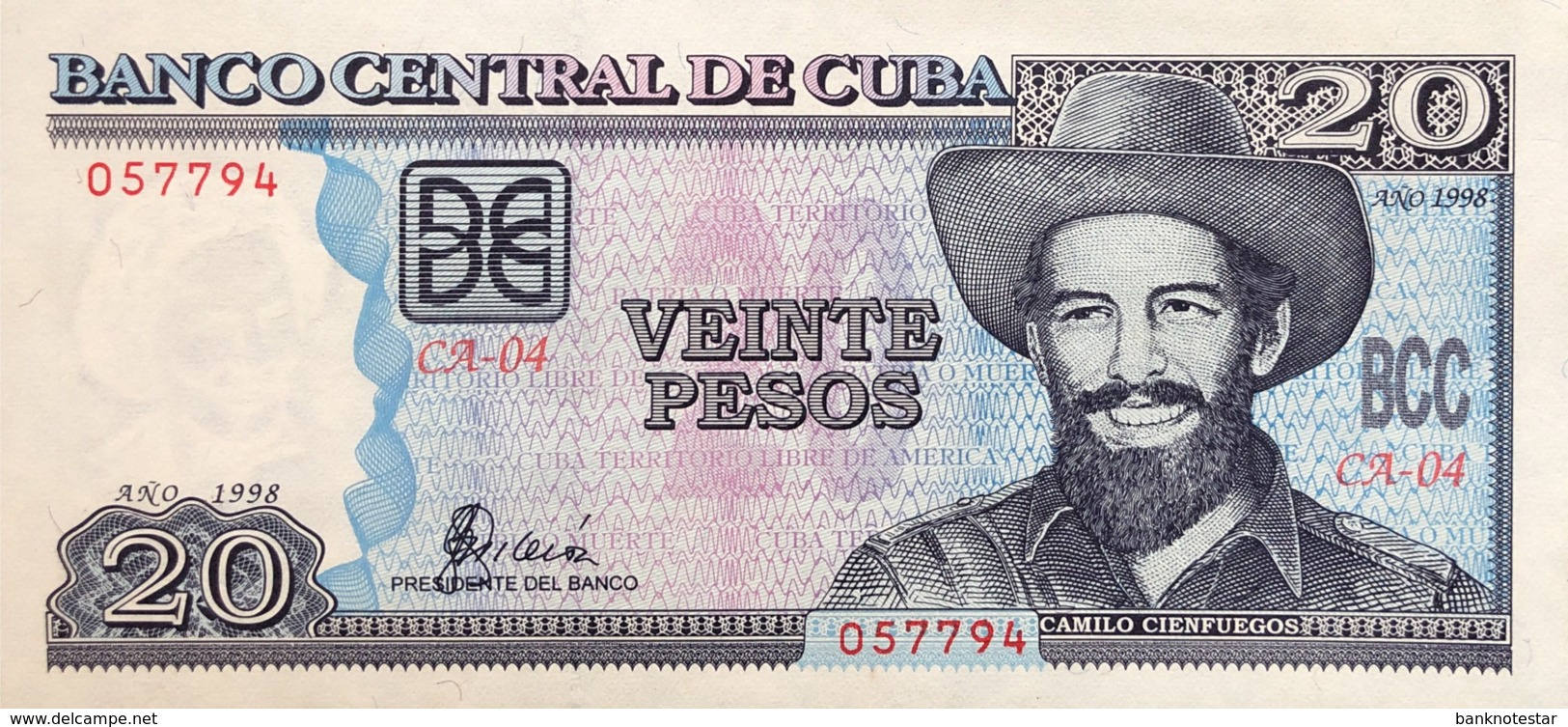 Cuba 20 Pesos, P-118a (1998) - UNC - Cuba