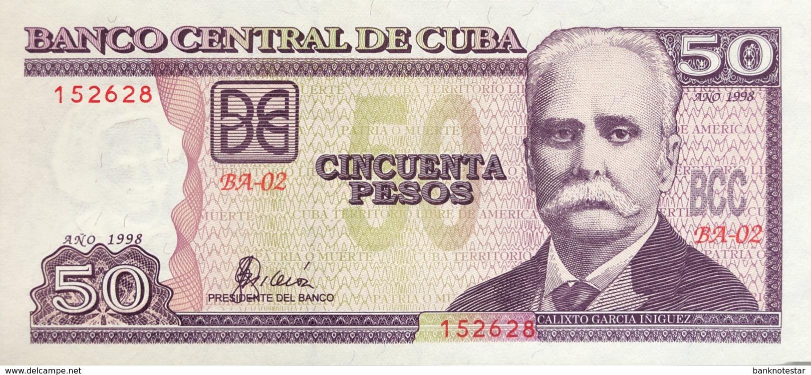 Cuba 50 Pesos, P-119 (1998) - UNC - Cuba