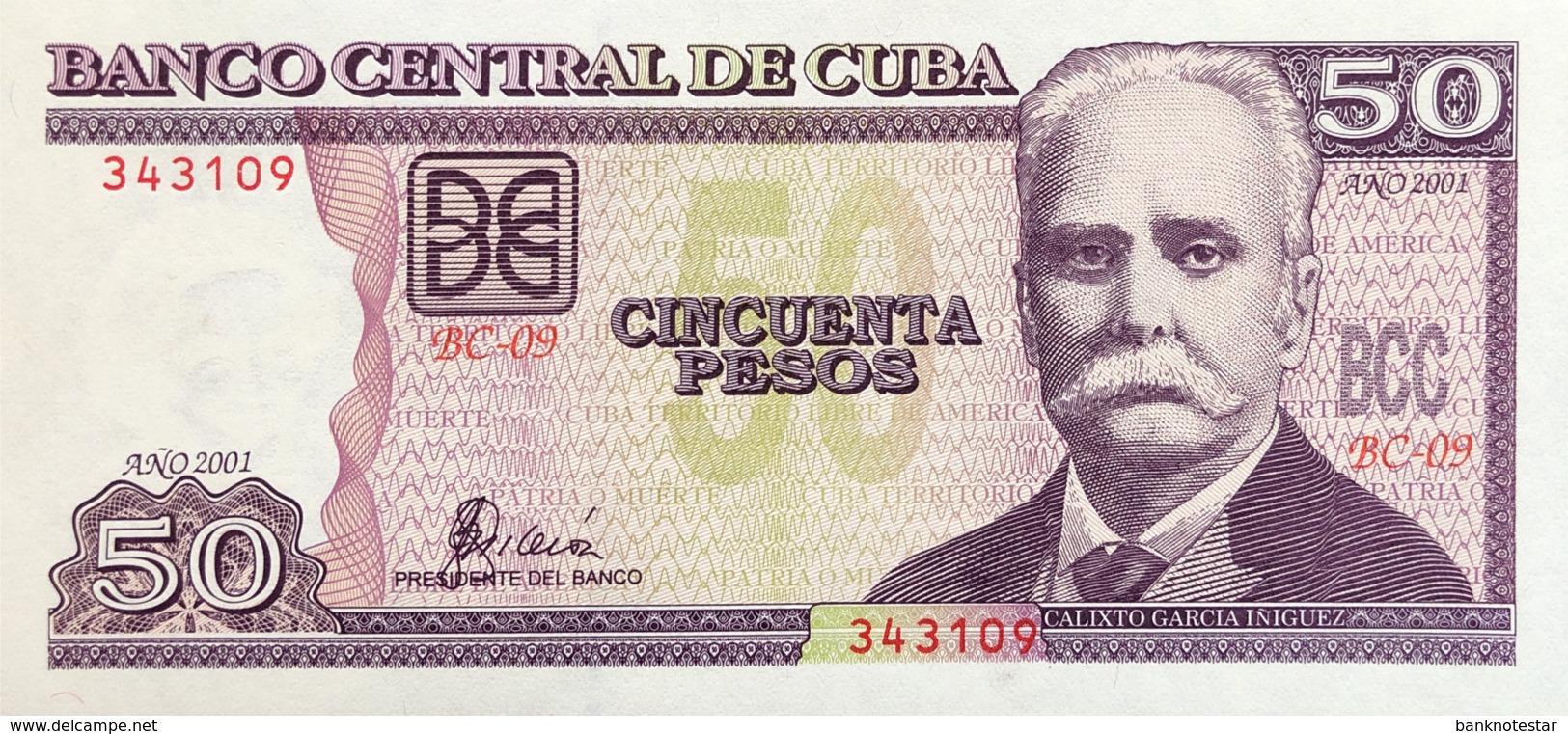 Cuba 50 Pesos, P-119 (2001) - UNC - Cuba