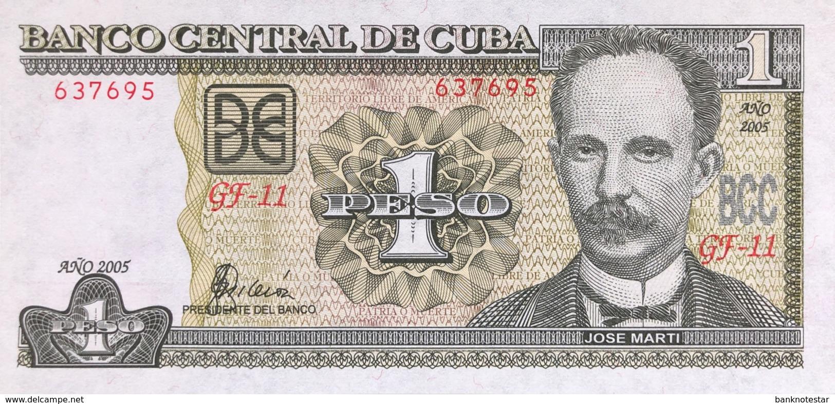 Cuba 1 Peso, P-121e (2005) - UNC - Cuba