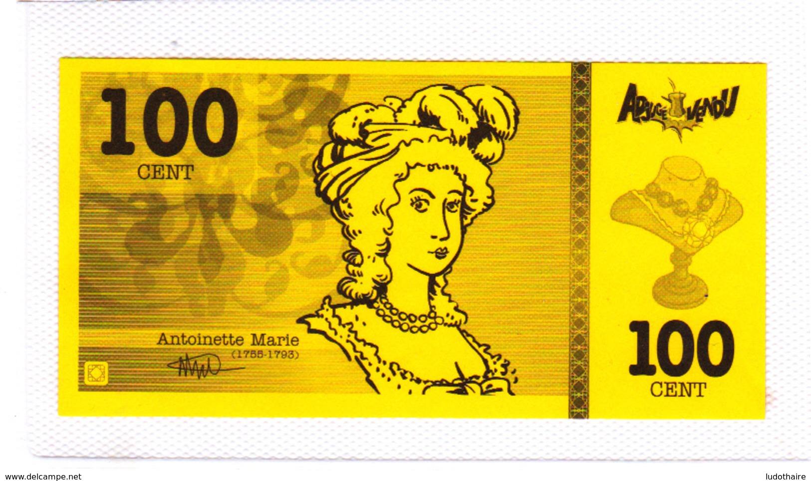 Billet De Jeu, Marie-Antoinette - Vieux Papiers
