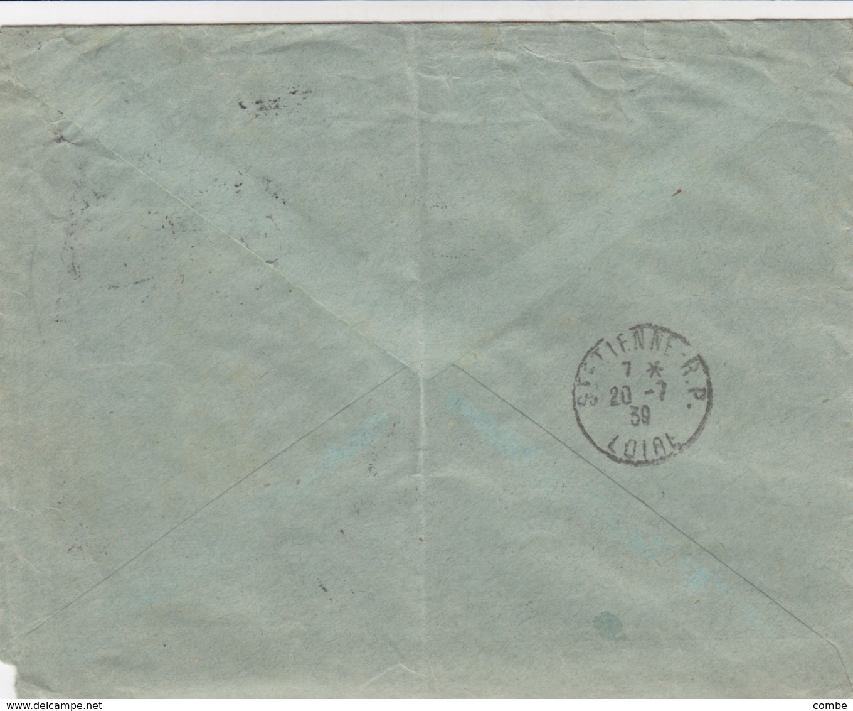 LETTRE. COVER. GERMANY. REICH. 18 7 1939. REGISTERED SCHLAUCHKLEMMEN EMIL SCHUBART KASSEL TO FRANCE. Mi 699, 700, 693... - Ohne Zuordnung