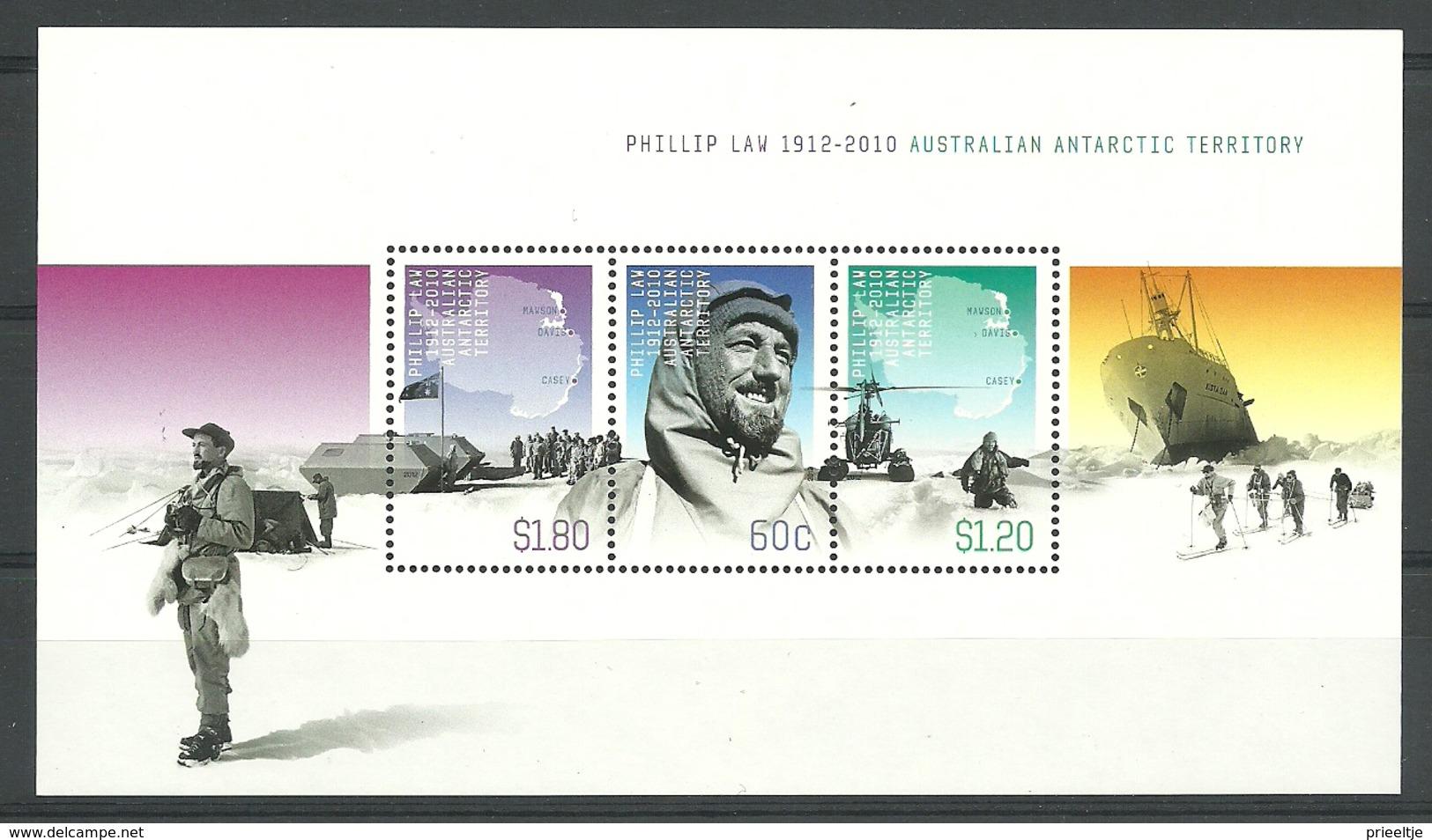 Australia AAT 2012 Phillip Law Centenary S/S Y.T. BF 10 ** - Australisches Antarktis-Territorium (AAT)