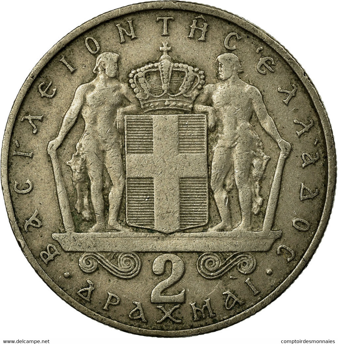 Monnaie, Grèce, Constantine II, 2 Drachmai, 1966, TB+, Copper-nickel, KM:90 - Grèce